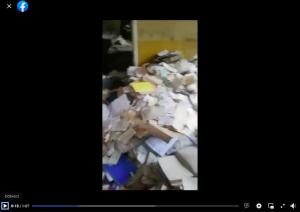 Nagranie pokazujące zaniedbane dokumenty